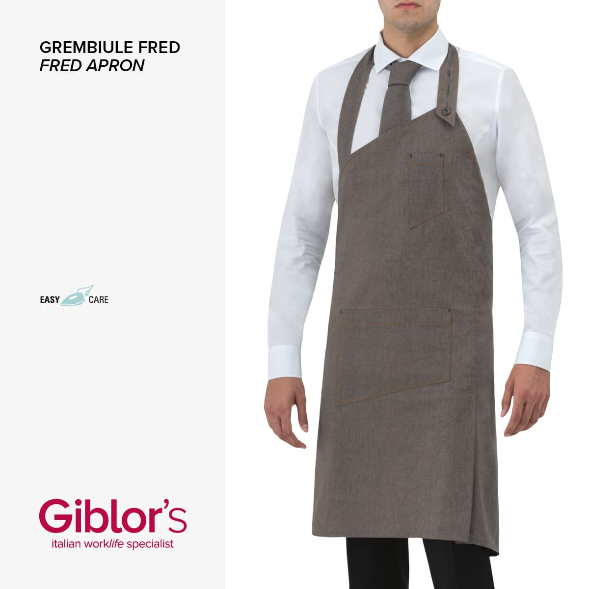 Giblor's - GREMBIULE FRED - Art 17P01H967 Marrone