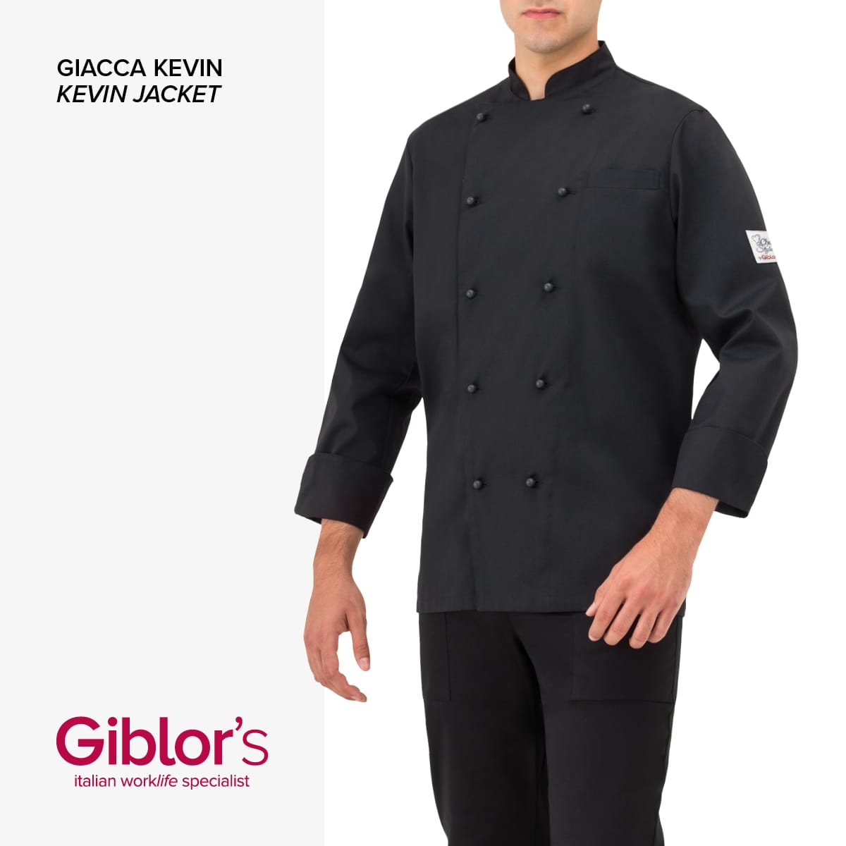 Giblor's - GIACCA KEVIN - Art 17P08G101 Nero