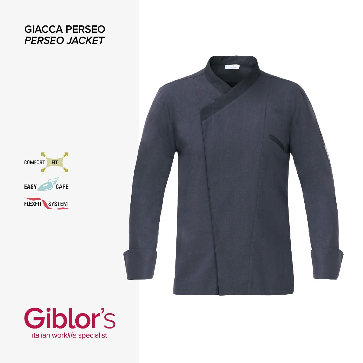 Giblor's - GIACCA PERSEO - Art 18P08G953 grigio